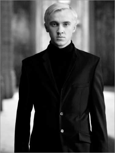 Póster 30 x 40 cm: The Half-Blood Prince - Draco Malfoy BW Portrait de Warner Bros. Entertainment GmbH - impresión artística, Nuevo póster artístico