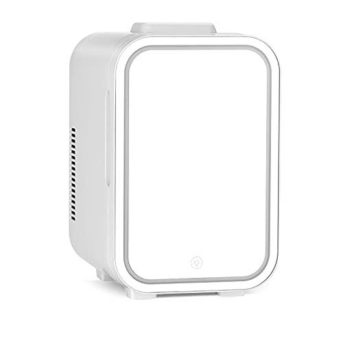 CYYMY 10L 8L Miroir Mini Beauté Petit Réfrigérateur, Cosmétiques, Produits De Soins De La Peau, Réfrigérateur À Double Usage Pour La Maison De Voiture,8L