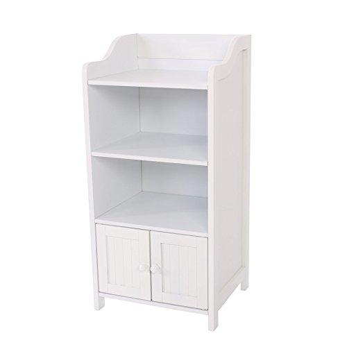 Arredo bagno mobile armadietto legno 86x41cm bianco