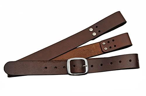 SZCO Supplies Adjustable Brown Leather Shoulder/Waist Belt Holster for Medieval/Samurai Swords, 38 inches