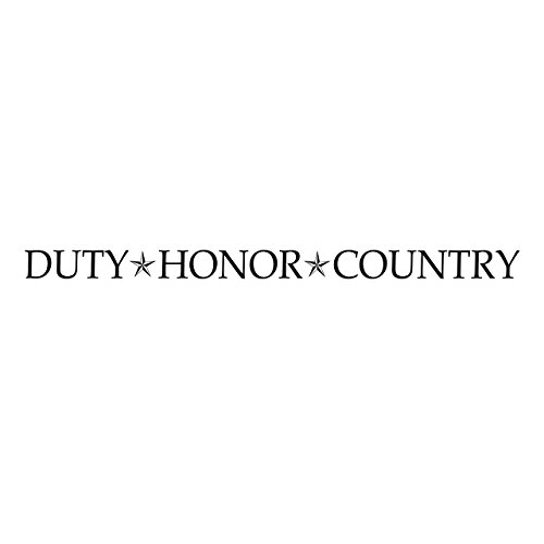 Duty Honor Country Vinyl Wall Decal by Wild Eyes Signs, military wall decal, stars, army, Patriotic wall decal, living room, master bedroom, sticker, military quote HH2160