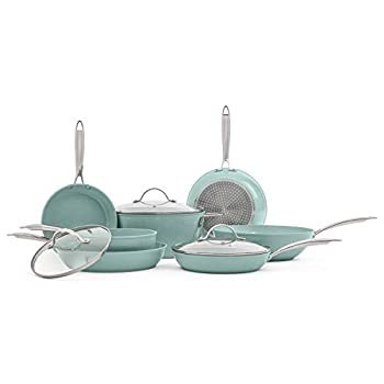JADE CHEF set of pans and kitchen pots 10 pieces NON-STICK interior and exterior ULTRA RESISTANT surface EASY TO CLEAN.