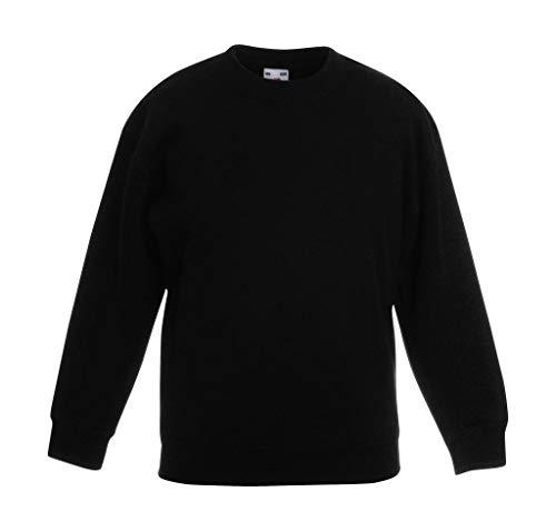 Fruit of the Loom, Kinder-Sweatshirt Gr. 12 nach 13 Jahre, schwarz