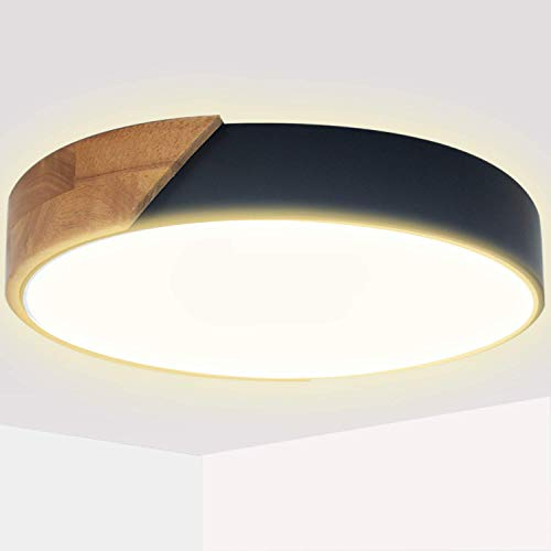 Kimjo Plafoniera LED 24W 2400LM Lampada da Soffitto LED Moderno Bianco Caldo 3000K Ø30CM per Cucina Camera da letto Sala Soggiorno Corridoio Ufficio Cantina