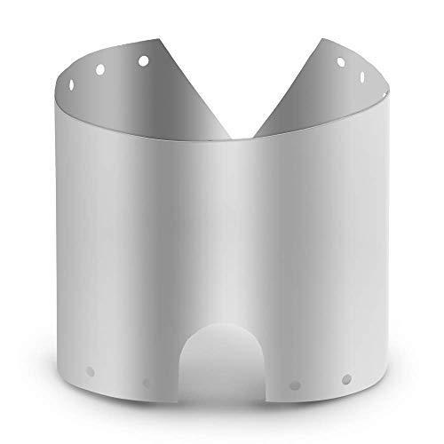 Lixada Ultraleichter Titan Outdoor Campingkocher Windschutz Regenschirm Winddichte Platte 18cm