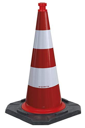 UvV® TL Leitkegel, Reflexkegel StVo §43, Folie B schwere Ausführung 750 mm 5,2-5,8 kg, Kegel Gewichtsklasse III. Bast Nr. V4-08/2012 (Folie RA2/B)