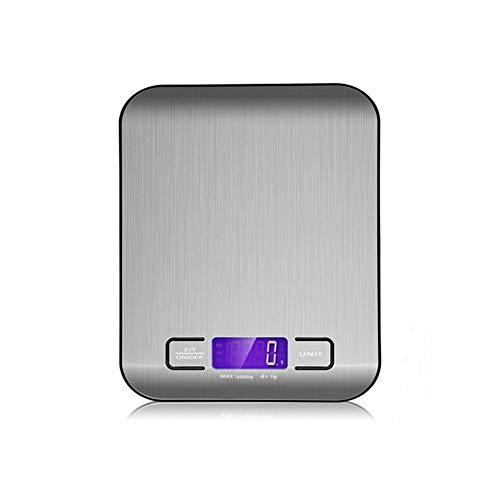 LHY KITCHEN Balance électronique de Cuisine, Acier Inoxydable de Haute précision et Conception Ultra-Mince (Poids Maximum 10 kg) Noir et Blanc,Black,10kg