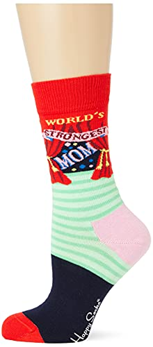 Happy Socks Damen-Socken World's Strongest Mom, mehrfarbig, 36-40