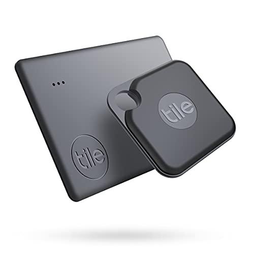 Tile Pro + Slim Combo (2020) Set di Cerca Oggetti - 2 Pezzi (1 Pro, 1 Slim). Funziona con Alexa e Google Smart Home, Compatibile con iOS e Android, Trova Chiavi, Portafogli, Telecomandi e Altro
