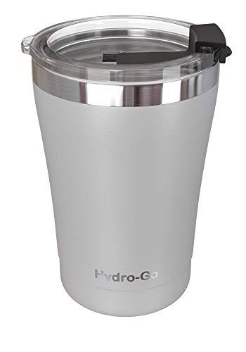 Hyrdo-Go Herbruikbare koffiekop 300ml | BPA-vrij roestvrij staal | koffiemok | dubbelwandige vacuüm-isolatiedraagbare beker | koffiekop, Reismokken | waterfles | houdt dranken 8 uur koud, warm gedurende 4 uur