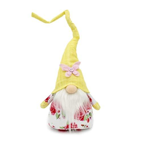 NA/ Marginf, Adornos Hechos a Mano del Duende de Tomte de la decoracin del hogar de la Primavera del gnomo sin Rostro de Pascua
