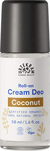 Urtekram Kokos Creme Deo Roll-On Bio, 0% Aluminium, 50 ml