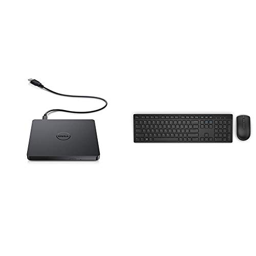 Dell USB DVD Drive-DW316 Bundle with Dell KM636 Wireless Keyboard & Mouse Combo (5WH32)
