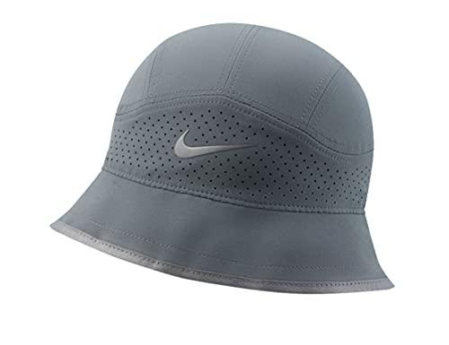 Nike Dri-FIT - Sombrero de sol unisex perforado, talla grande, extragrande, color gris