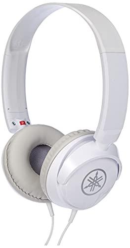 Yamaha Musical Instruments HPH-50WH Cuffie Sovraurali, Cuffia On Ear con Meccanismo Girevole 90°, Semplice e Compatta, Suono Livello Professionale, Adatte per Strumenti Musicali Digitali, Bianco