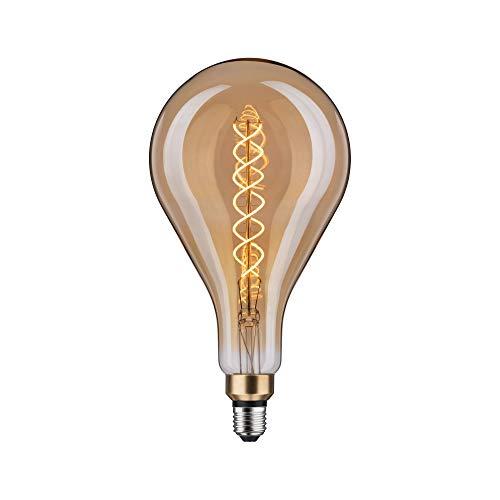 Paulmann 28592 LED Vintage Lampe BigDrop, 1879 Grand Edition, Ø160 mm, 7W, 390 lm, E27, Dimmbar, Gold, Filament, Retro Leuchtmittel, Goldlicht 2000 K