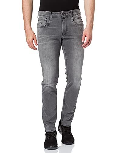 Replay Herren Anbass 573 Bio Jeans, Grau (096 MEDIUM Grey), 32 W / 34 L
