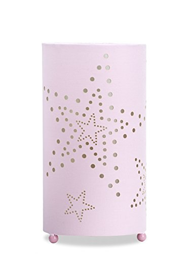 Aratextil Laura Lampe de Table, Coton, Rose, 24.5 x 13 cm