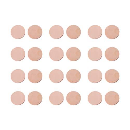 Minkissy Pads Gezichtspoeder, 24 stuks, rond, make-upverwijderaar, spons, gezichtsreiniging, poeder, make-up accessoire voor make-up thuis vrouwen