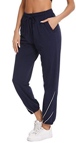 Vlazom Jogginghose Damen Freizeithose lang Sporthose für Frauen Baumwolle Schlafanzughose lang Yogahose Fitness Hose