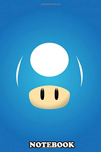 Notebook: Mario Mushroom Blue , Journal for Writing, College Ruled Size 6