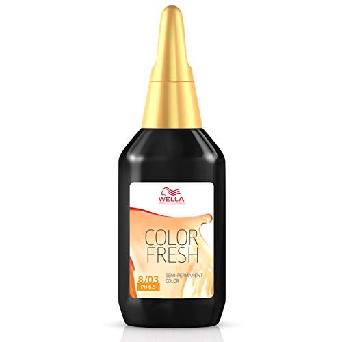 2 x Wella Color Fresh Toning - 8/03 Light Blonde Natural Gold 75ml
