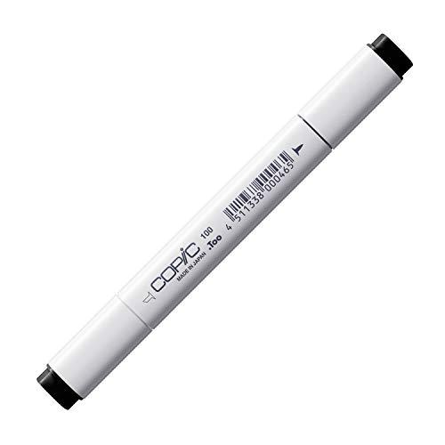 COPIC Classic Marker Typ - 100, black, professioneller Layoutmarker, alkoholbasiert, mit einer breiten und einer feinen Spitze