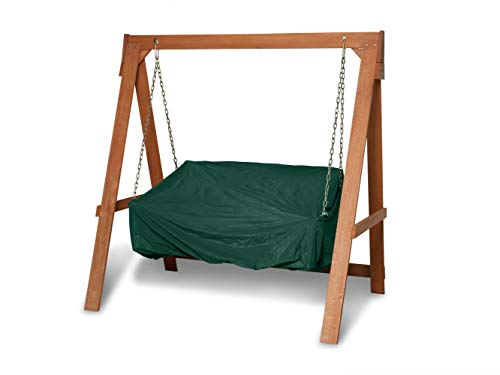 Covermates Outdoor Swing Cover - Light Weight Material, Weather Resistant, Elastic Hem, Seating and Chair Covers - Green