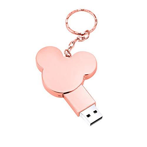 Gasfja - Portachiavi con chiavetta USB, disco a U 32G, in metallo, personalizzabile, rosa. (Rosa) - Gasfja6953574461958