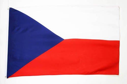 AZ FLAG Flagge Tschechien 150x90cm - TSCHECHISCHE Fahne 90 x 150 cm feiner Polyester - flaggen
