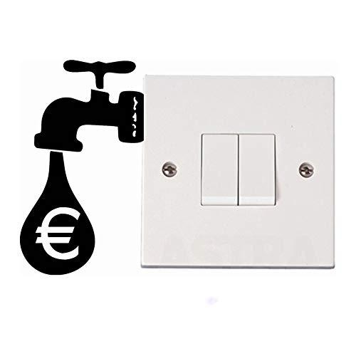 etiqueta de la pared decoración Panel de interruptor de grifo, calcomanía, calcomanías, carteles, decoración, mural