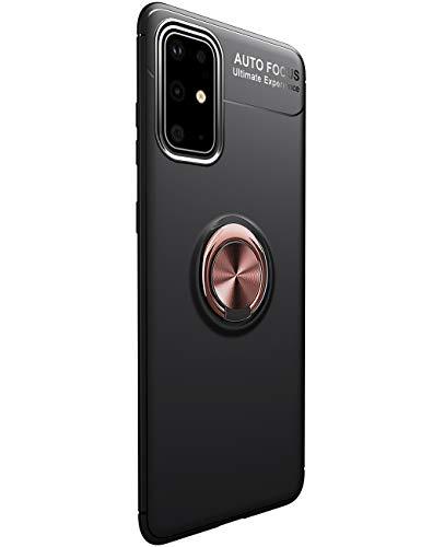 vivio A31 Hülle Kompatibel mit Samsung Galaxy A31 Schutzhülle 2 in 1 Magnetische Car Mount Handyhülle 360 Grad Ring Kickstand Tasten Case Handytasche SchaleHülle Für Samsung A31