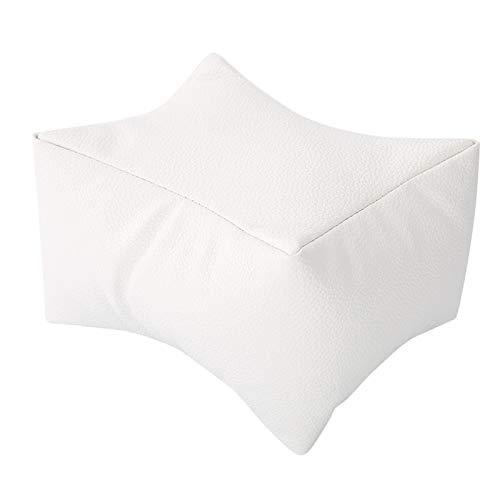 Almohada de mano para decoración de uñas, almohada de mesa para decoración de uñas estable de 3 colores, almohada de mano para manicura, para salón en casa, oficina para(white)