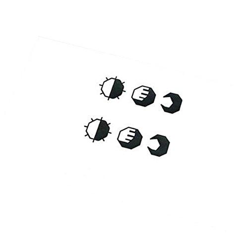 3Pcs Sun Moon Tattoo Stickers Autocollants simples
