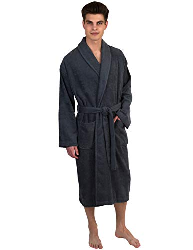 TowelSelections Men's Robe, Turkish Cotton Terry Shawl Bathrobe...