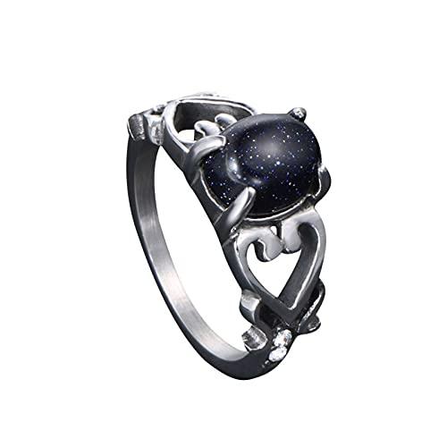 Decoración de dedo unisex, estilo retro, accesorio de mano con gema esmerilada, regalo creativo para el día de San Valentín