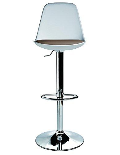 arredinitaly – Lot de 2 tabourets de bar rotatifs et réglables en hauteur avec siège rembourré couleur boue