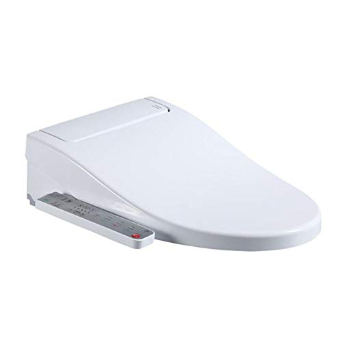 YLEI Dusch-WC Aufsatz, Bidet Wc Dusche Mit drahtloser Fernbedienung, wasserdichte Sitzheizung, Selbstreinigender Edelstahldüse, für Intimpflege(51.5×45×14.5cm)