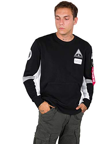 Alpha Industries Men Sweatshirt Space Camp, Größe:M, Farbe:Black