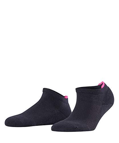 FALKE Damen Sneakersocken Relax Pads - Baumwollmischung, 1 Paar, Blau (Dark Navy 6370), Größe: 39-42