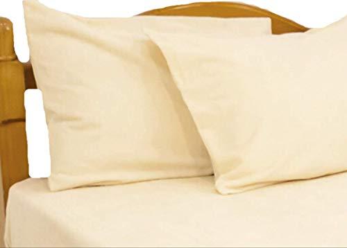 ロング綿パイルの防水ピロケース(製品サイズ43×86cm/43×63cmピロ—用/Mサイズ)イエロー