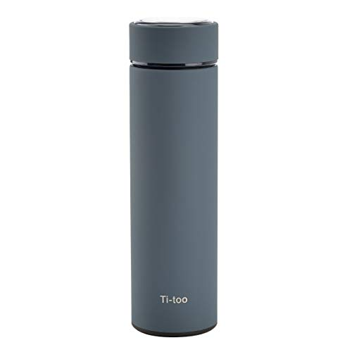 Ti-too Insulated Water Bottle, Double Walled Vacuum Flask, Best for Travel, Hiking, Park or Beach Party