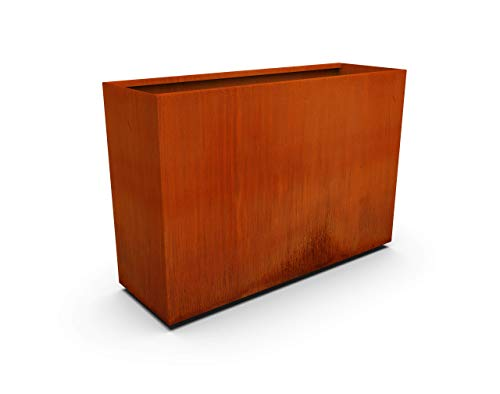 PLANTERCRAFT Corten Steel Metal Planter Box, Rectangular Sizes, Modern Garden Steel planters for Commercial and Residential Outdoor Use.