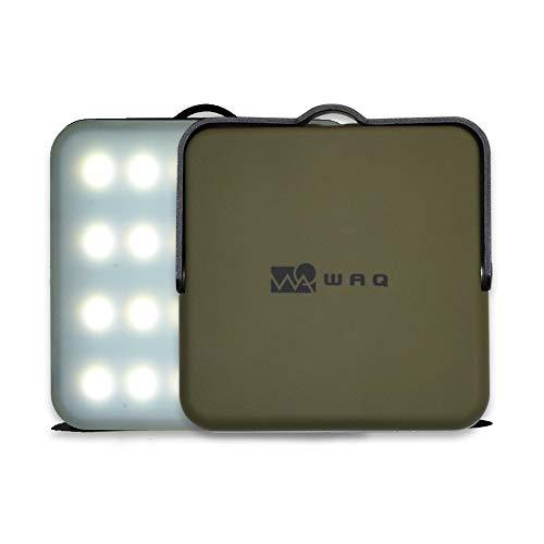 WAQ LEDランタン オリーブ 暖色 電球色 昼光色 USB充電式 (1000ルーメン/10000mah/連続点灯24時間/PSE) WAQ...