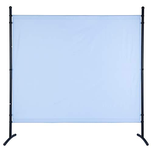 UMI. by Amazon Paravent 180 x 183 cm Raumteiler Trennwand Stellwand Balkon Sichtschutz(Blau)
