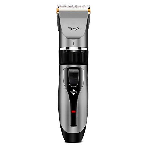 Haarschneidemaschine für Männer Haarschneide-Kit Elektrischer wiederaufladbarer Bartschneider Akku-Bartrasierer für Hunde Babykinder mit Führungskämmen (Schwarz A1)