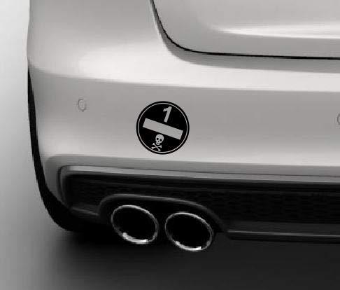 Dinger-Design Premium Umweltplakette Autoaufkleber Feinstaubplakette Umweltplakette 10 x 10 cm schwarz