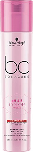 Schwarzkopf Professional BONACURE ph 4.5 Color Freeze Red Shampoing pour tons rouges intense, 250 ml