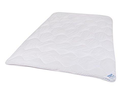 Traumnacht 03831460149 3-Star 4-Jahreszeiten Bettdecke, Polyester, waschbar, weiß, 155 x 220 cm