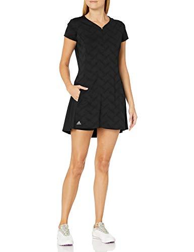 adidas Damen Jacquard Dress Kleid, schwarz, Medium